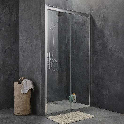 porte de douche coulissante breuer adena verre de s curit transparent leroy merlin. Black Bedroom Furniture Sets. Home Design Ideas