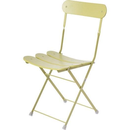 chaise de jardin en acier cassis vert leroy merlin. Black Bedroom Furniture Sets. Home Design Ideas