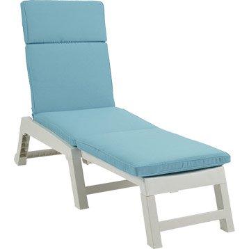Coussin de bain de soleil NATERIAL Laura, uni bleu atoll