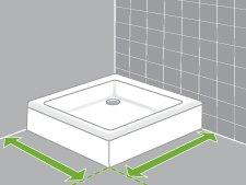 Comment installer une paroi de douche d 39 angle ou de face - Dimension d une douche ...
