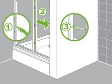 Comment installer une paroi de douche d 39 angle ou de face for Installer une porte de douche