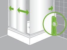 Comment installer une paroi de douche d 39 angle ou de face leroy merlin - Comment fixer une colonne de douche ...