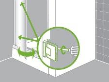 comment installer une paroi de douche d 39 angle ou de face leroy merlin. Black Bedroom Furniture Sets. Home Design Ideas
