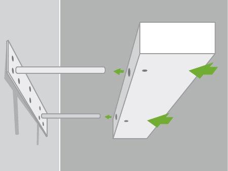 comment poser une tablette avec une fixation invisible leroy merlin. Black Bedroom Furniture Sets. Home Design Ideas