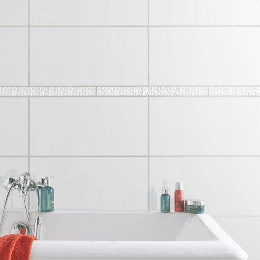 listel origami blanc 5x60 cm leroy merlin. Black Bedroom Furniture Sets. Home Design Ideas