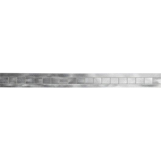 frise techno alu naturel 6x60 cm leroy merlin. Black Bedroom Furniture Sets. Home Design Ideas