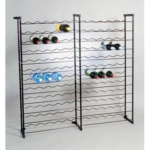 Range bouteilles et accessoires casier bouteille vin for Porte metallique brico depot