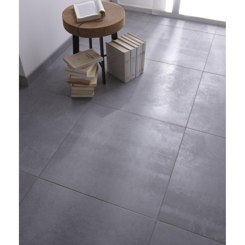 Carrelage sol et mur gris effet b ton factory x for Carrelage 60 par 60