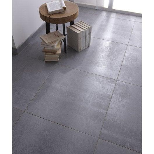 Carrelage sol et mur gris effet b ton factory x for Grand carrelage gris