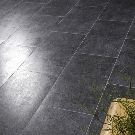 Carrelage sol et mur noir effet béton Factory l.30 x L.60 cm  Leroy ...