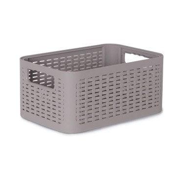 Boîte de rangement nomade en plastique gris gris 4, Cottage
