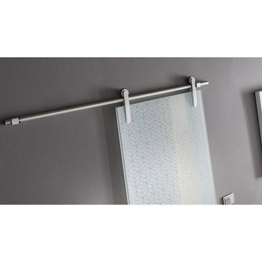 Rail coulissant lindy pour porte de largeur 83 cm maximum leroy merlin - Kit coulissant porte ...