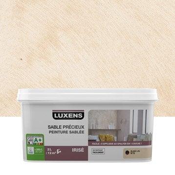 Peinture à effet, Sable précieux LUXENS, blanc lin 6, 2 l