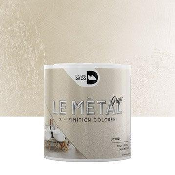 Enduit décoratif, Le métal griffé MAISON DECO, uyuni, 0.5 l