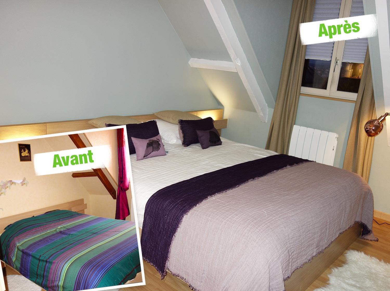 relooking chambre avant apres avant aprs avant relooking et duun lit louis philippe. Black Bedroom Furniture Sets. Home Design Ideas