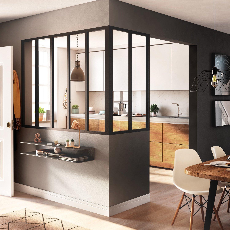 Verri res d 39 atelier pour une cuisine presque ferm e leroy merlin - Verriere cuisine coulissante ...