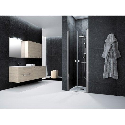 Porte de douche au meilleur prix leroy merlin for Porte de douche 70 cm