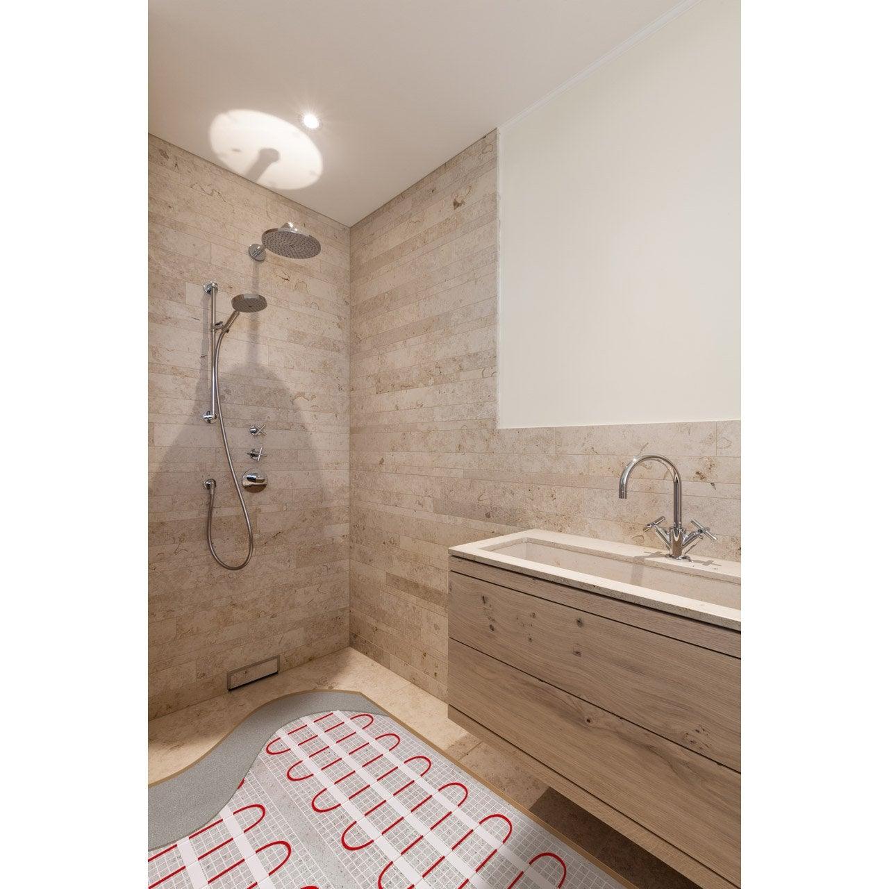 plancher chauffant electrique sur carrelage existant. Black Bedroom Furniture Sets. Home Design Ideas