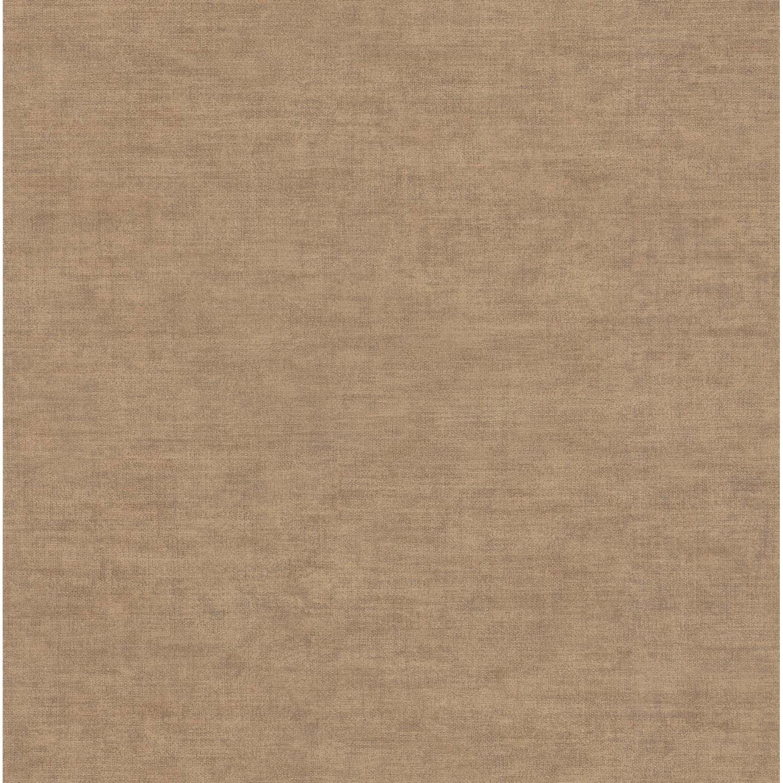 Papier peint vinyle Uni Tela marron clair | Leroy Merlin