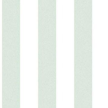 Papier peint intissé vert/blanc