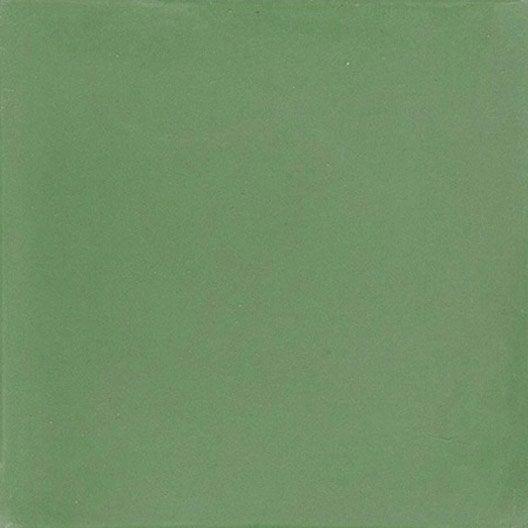 carreau de ciment sol et mur vert anglais x cm leroy merlin. Black Bedroom Furniture Sets. Home Design Ideas