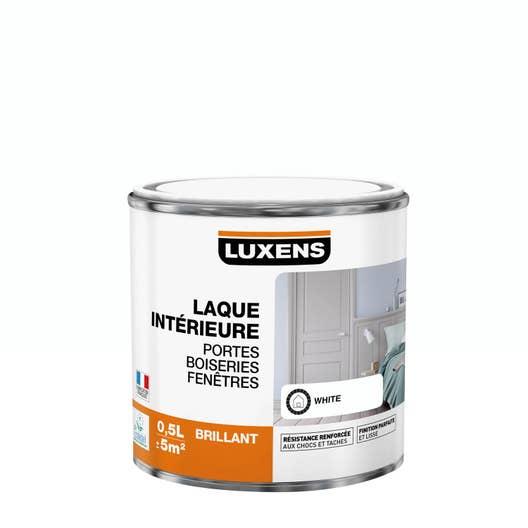 peinture blanc brillant luxens laque 0 5 l leroy merlin. Black Bedroom Furniture Sets. Home Design Ideas
