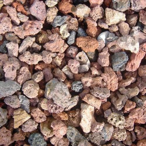 Pouzzolane Pierre Naturelle Rouge Roche Volcanique 6 12mm 30 L