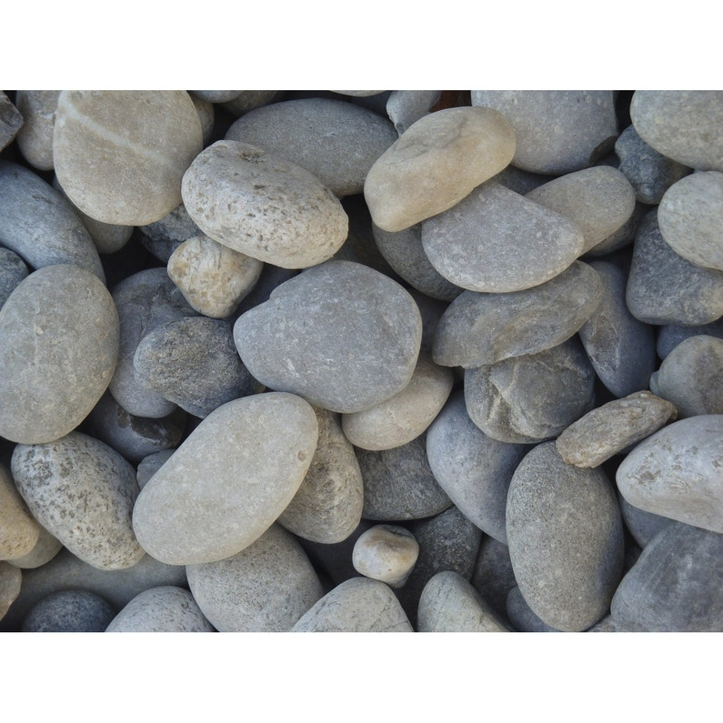 Galets pierre naturelle gris Gabions 20/50mm, 25 kg | Leroy Merlin