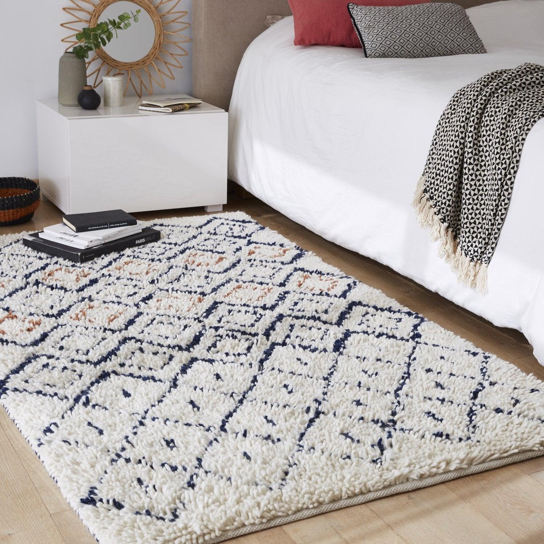 Un tapis berbère dans une chambre  Leroy Merlin