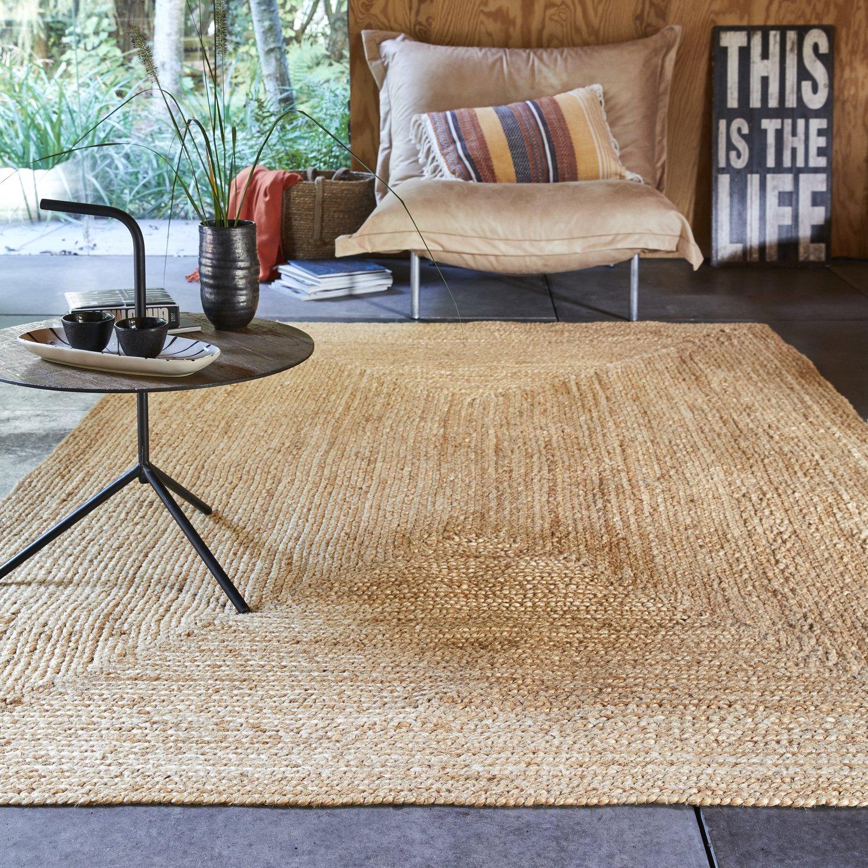 Grand tapis naturel en jute pour une déco chaleureuse  Leroy Merlin