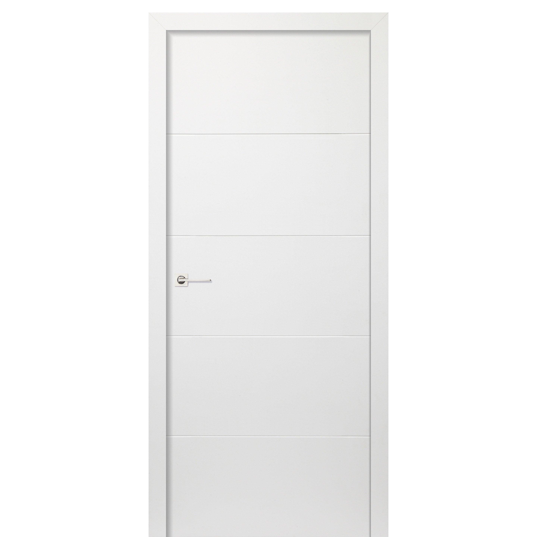 Bloc-porte blanc Albane, blanc H.204 x l.73 cm, poussant droit