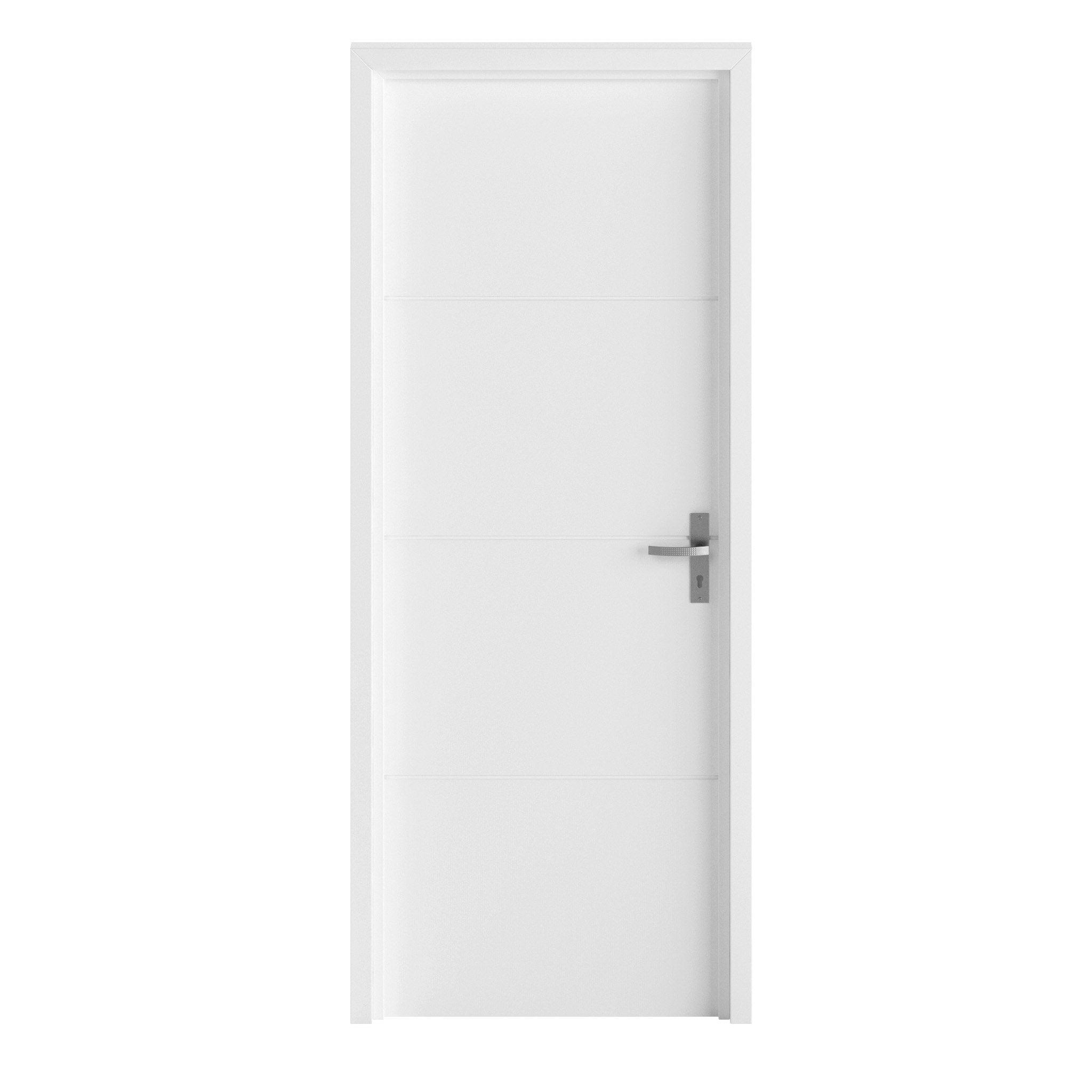 Bloc-porte blanc Lali, blanc H.204 x l.73 cm, poussant gauche