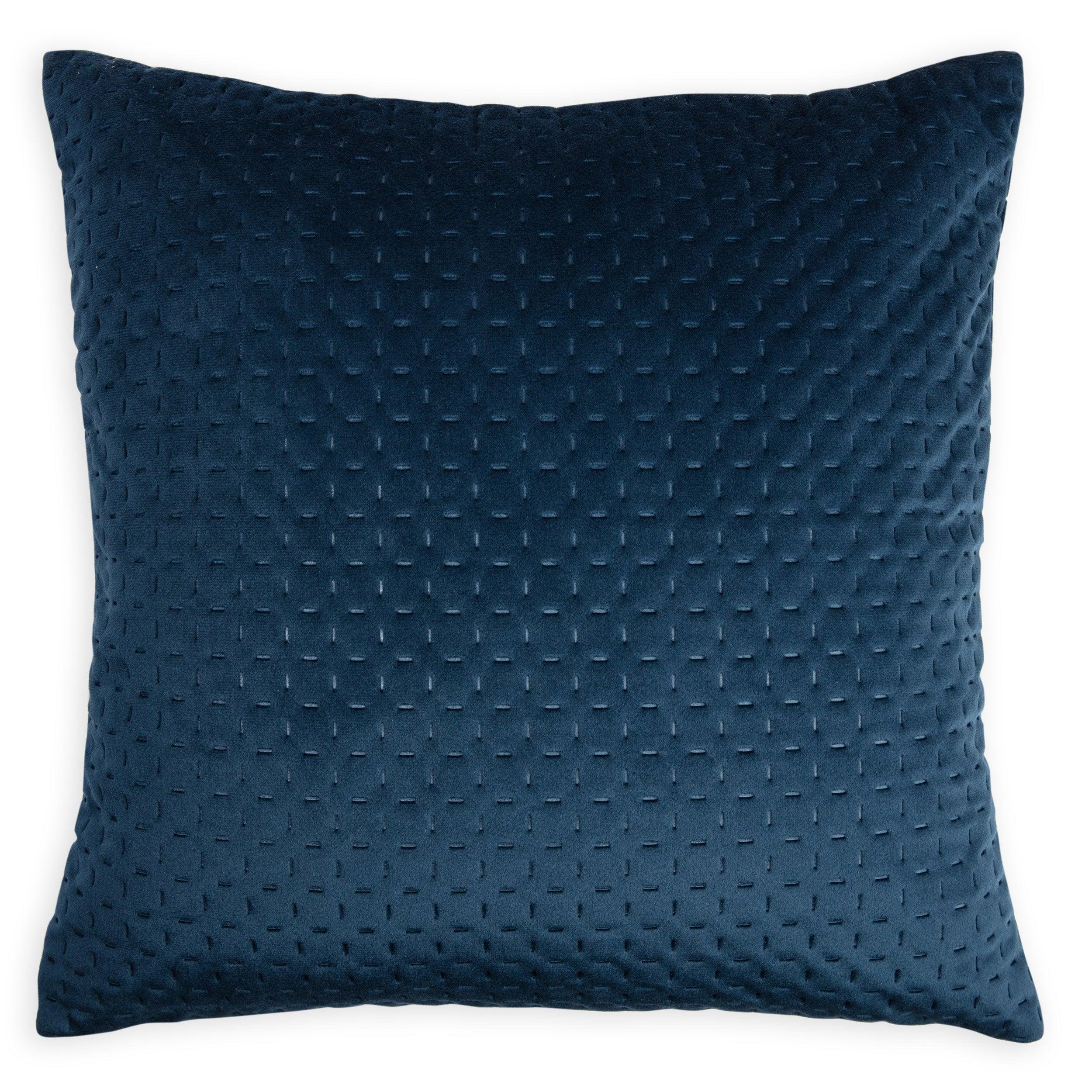 Coussin Cheryl, bleu l.40 x H.40 cm