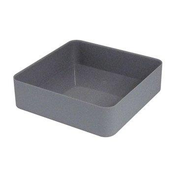 Organiseur en plastique gris galet 3, Remix