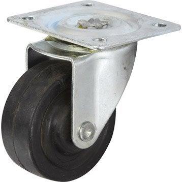 Roulette pivotante à platine, Diam.40 mm