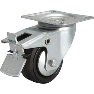 roulette pivotante freins platine diam80 mm - Roulette Pour Table Basse