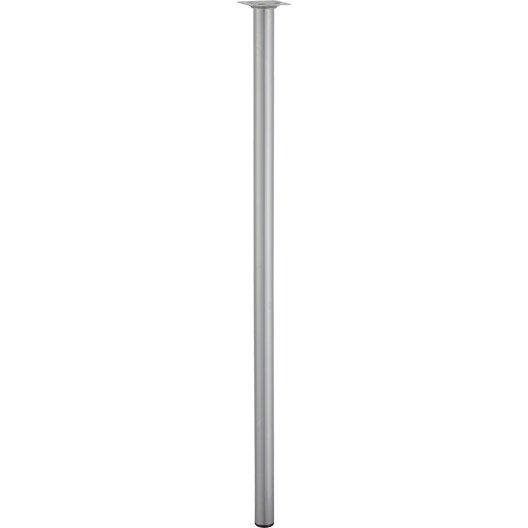 Pied de table cylindrique fixe acier mat gris 80 cm - Pieds de table leroy merlin ...