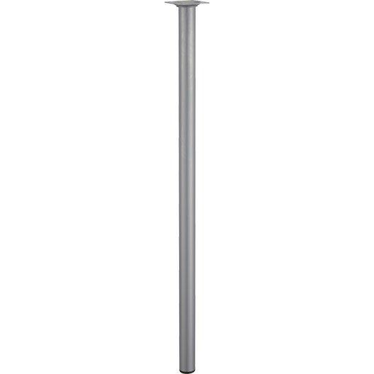 Pied de table basse cylindrique fixe acier mat gris 70 cm - Pied table basse acier ...
