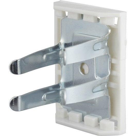 Lot de 8 clips pour pied de meuble diam 28 mm en m tal h - Pied pour meuble de cuisine ...