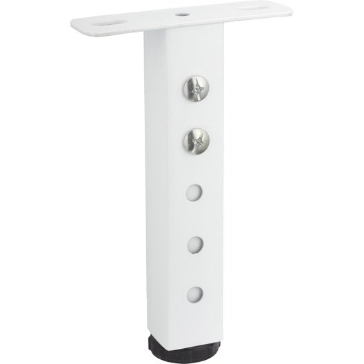 pied de lit carr visser en acier h 200 x l 35 mm leroy merlin. Black Bedroom Furniture Sets. Home Design Ideas