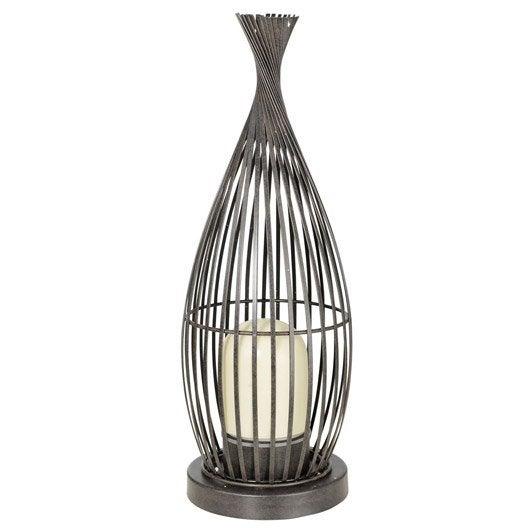 Lampe de jardin ext rieure lorena e27 60 w blanc eglo leroy merlin for Lampe de jardin jardiland