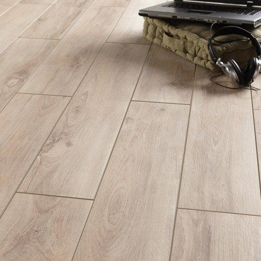 Carrelage sol et mur beige effet bois havana x for Carrelage imitation cuir leroy merlin