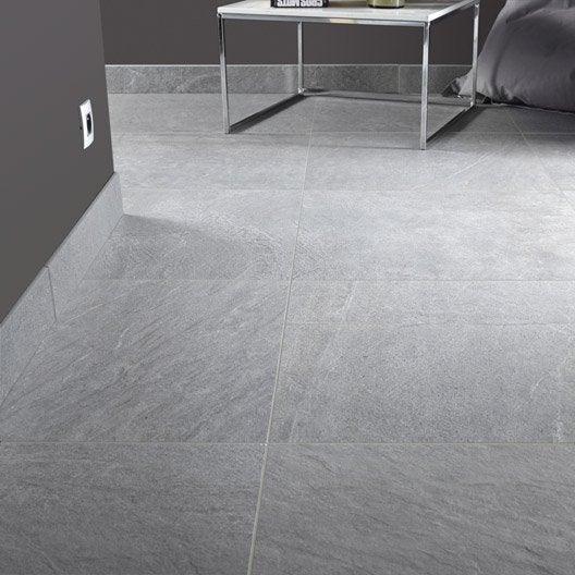 Carrelage sol et mur gris effet pierre story x for Carrelage 30 60 gris