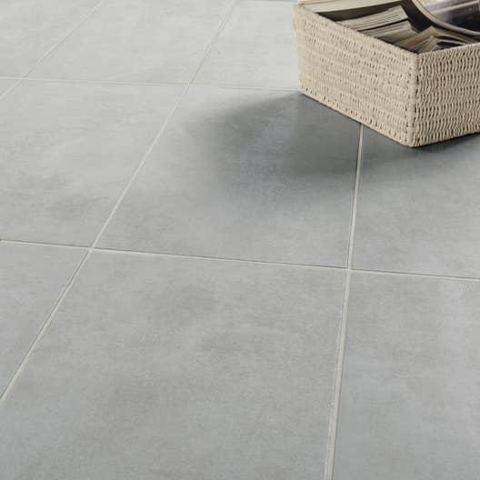 Carrelage sol et mur gris effet b ton factory x - Carrelage gres cerame pleine masse pour garage ...