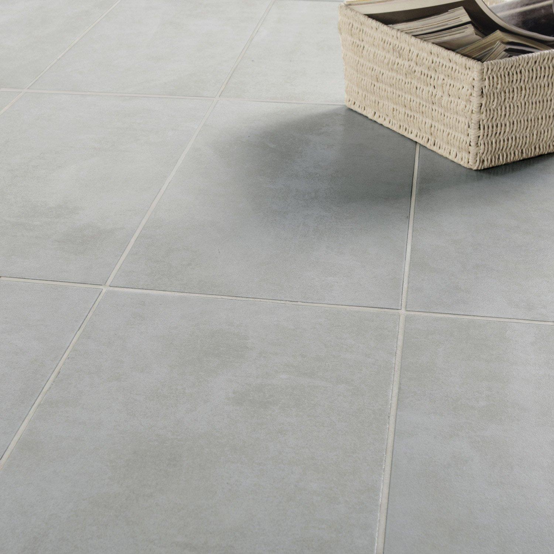 Carrelage Sol Et Mur Gris Effet Béton Factory L X L Cm Leroy - Carrelage gris clair