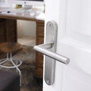 Poignées de porte Sara sans trou, acier inoxydable mat, entraxe 195mm