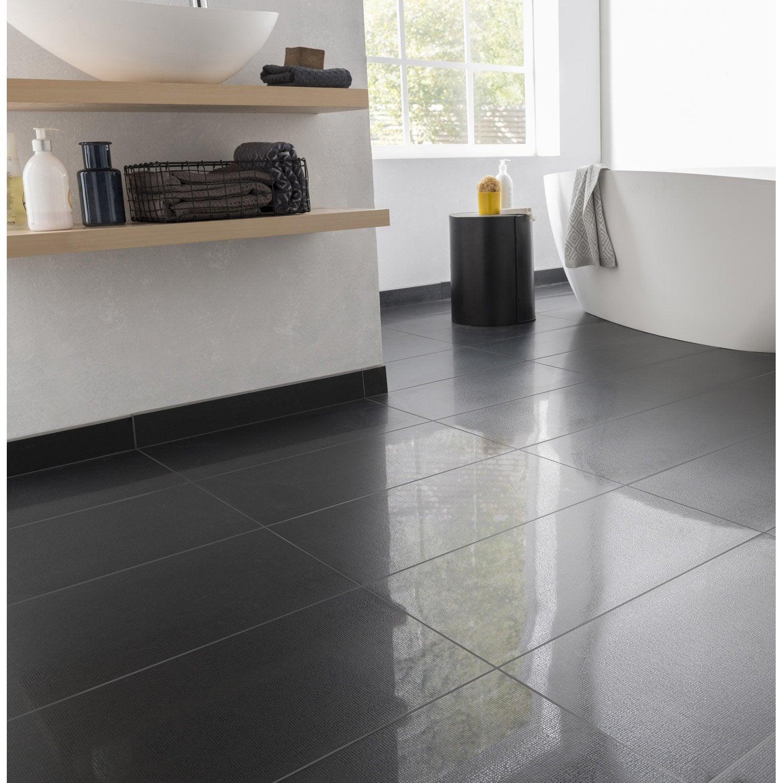 Carrelage sol et mur noir effet uni Piano l.30 x L.60 cm | Leroy Merlin