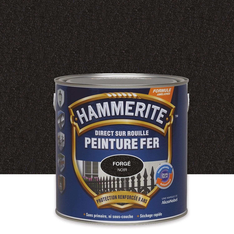 peinture fer extérieur, noir, 2.5 l hammerite | leroy merlin