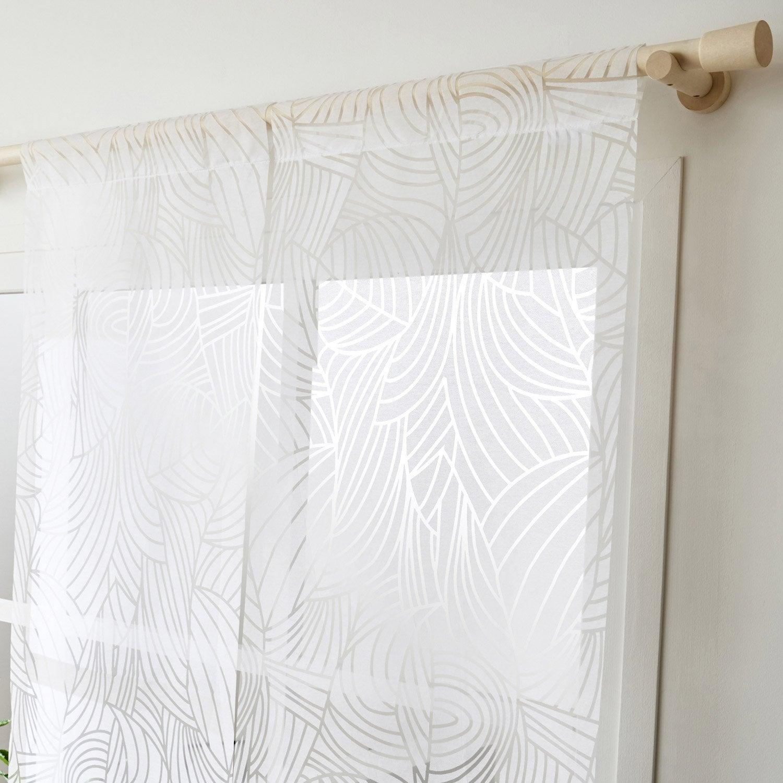 Panneau japonais, Feuillage blanc, H.250 x l.50 cm