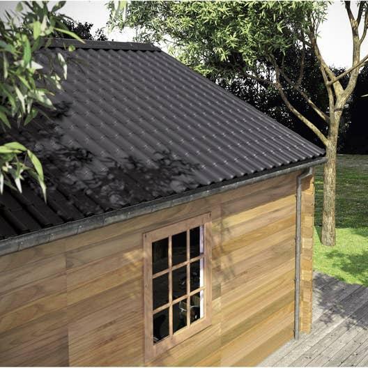 plaque imitation tuile acier gris pan 39 tuile l x l m leroy merlin. Black Bedroom Furniture Sets. Home Design Ideas